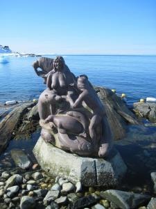 Mother of the Sea statue in Nuuk