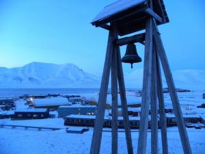 View above Longyearbyen